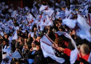 Aston Villa fans show their support prior to the Capital One Cup Semi-Final Second Leg between Aston Villa and Bradford City at Villa Park (Getty)